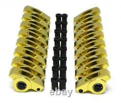 SBC Small Block Chevy 327 350 400 Aluminum Roller Rockers Arms Kit 1.5 Ratio 3/8