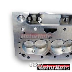 SBC Small Block Chevy Aluminum Cylinder Head Angled Plug 327 350 64CC/205CC