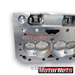 SBC Small Block Chevy Aluminum Cylinder Head Angled Plug Hyd / Solid 64CC/205CC