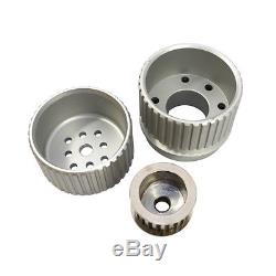 SBC Small Block Chevy Billet Aluminum Gilmer Belt Drive Pulley Kit 305 350 400