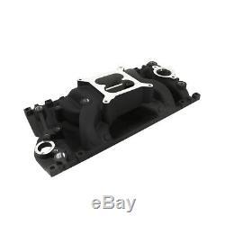 SBC Small Block Chevy Black Vortec Air Gap Aluminum Intake Manifold 350 400