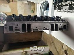 SBC Small Block Chevy Fast Burn Aluminum Cylinder Heads Chevrolet 350 383 Camaro