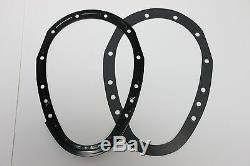 SB Chevy Black 2 Piece Timing Chain Cover Kit 305 350 383 400 SBC Small Block