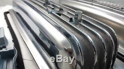 SB Chevy SBC Polished Finned Center Bolt Aluminum Valve Cover Kit 305 350 87-95