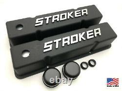 SB Chevy Valve Covers Stroker 58-86 SBC 283 305 327 350 383 400 V8 Cast Aluminum