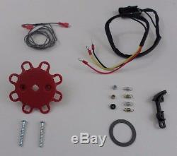 SMALL BLOCK CHEVY 350 Pro Series HEI Distributor, Coil & Spark Plug Wires over VC