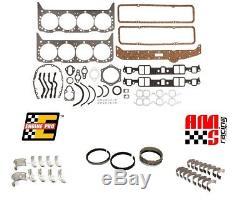 Sbc Chevy 327 350 5.7l Small Block Re-ring Remain Kit Rings Bearings Gaskets