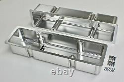 Sbc Fabricated Aluminium Finned Valve Rocker Covers Satin Finish 283-327-350-400