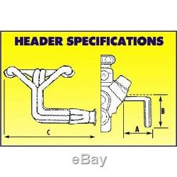 Schoenfeld Small Block Chevy SBC 305 350 400 Boom Tube Headers, IMCA Modified