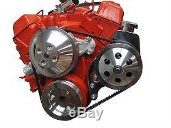 Short Water Pump Saginaw Power Steering Bracket Chevy Small Block Electric SBC
