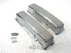 Small Block 327 350 Chevy SBC Tall Finned Valve Cover WithO Hole BPE-2007