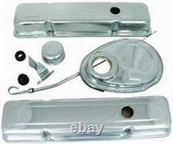 Small Block 350 Chevy Chrome Steel Dress Up Kit Valve Cover Chevrolet Timing
