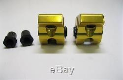 Small Block Chevy 1.6 Ratio 3/8 YELLOW Aluminum Roller Rockers
