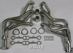Small Block Chevy 283 350 400 Long Tube Stainless Headers Chevelle Malibu Camaro