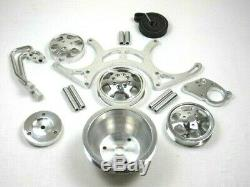 Small Block Chevy 327 350 383 Serpentine Pulley Bracket Kit Polished BPE-8503