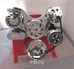 Small Block Chevy 350-383 LWP Serpentine Kit Complete Chrome BP-5000C