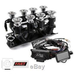 Small Block Chevy 350 Black Downdraft FAST EZ-EFI 2.0 Fuel Injection System