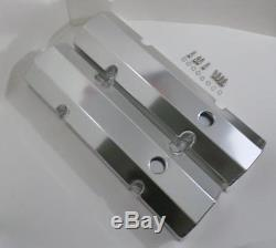 Small Block Chevy 350 TALL Fabricated ANODIZED ALUMINUM Valve Covers & BOLTS SBC