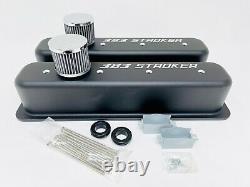 Small Block Chevy 383 Stroker, SBC Tall Center Bolt Valve Cover, Custom Engraved