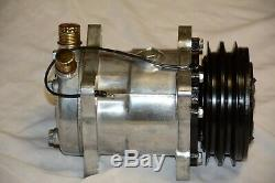 Small Block Chevy 508 V Belt A/C Air Conditioning Compressor & Bracket SBC LWP