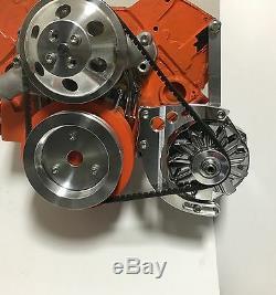 Small Block Chevy Alternator Bracket Short Water Pump SBC SWP EWP 350 Circles