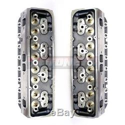 Small Block Chevy Aluminum Bare Cylinder Head Pair SBC 327 350 64CC/205CC