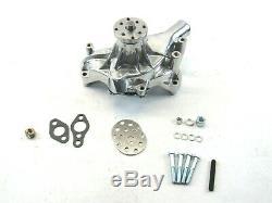 Small Block Chevy Aluminum Long Water Pump Polished BPK-1003P