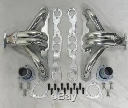 Small Block Chevy Ceramic Coated Hugger Headers Shorty Steet Rod 283 350 400 SBC