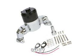 Small Block Chevy Chrome Electric Water Pump 350 EWP SBC High Volume Flow LWP