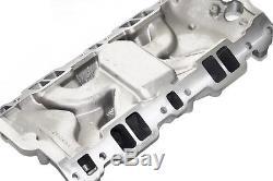 Small Block Chevy Dual Plane Square Bore Aluminum Intake Manifold 55-86 SBC