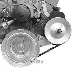 Small Block Chevy Electric Water Pump Power Steering Alternator Bracket 417L 235