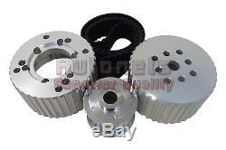 Small Block Chevy Gilmer Belt Pulley Kit Short Water Pump Aluminum 305 350 SBC