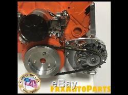 Small Block Chevy Low Mount Alternator Bracket Long Water Pump SBC LWP 350