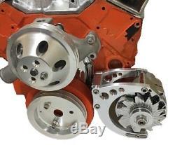 Small Block Chevy Low Mount Alternator Bracket Short Pump SBC SWP EWP 350 2
