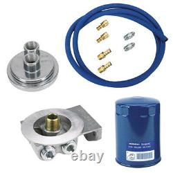 Small Block Chevy Remote Oil Filter Relocation Kit, Horizontal