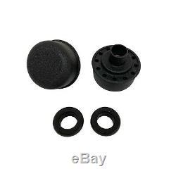Small Block Chevy SBC Tall 383 Stroker Raised Letter Valve Covers - Black