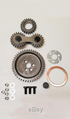 Small Block Chevy SB Chevy 305 350 Dual Idler Quiet Timing Gear Drive Set Kit