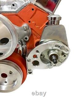 Small Block Chevy Saginaw Power Steering Bracket Short Water Pump SBC EWP SWP 2