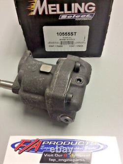 Small Block Chevy Shark Tooth High Volume High Pressure Oil Pump Melling 10555ST