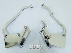 Small Block Chevy Short Water Pump CHROME Alternator & Air Conditioning Brackets