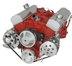 Small Block Chevy V-Belt Kit SBC 283 302 305 350 400 Long Water Pump LWP
