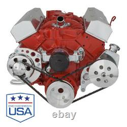 Small Block Chevy V-Belt Kit for Electric Water Pump EWP SBC 283 302 305 350