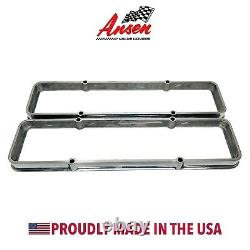 Small Block Chevy Valve Cover Spacers Polished- Die-Cast Aluminum- Ansen USA