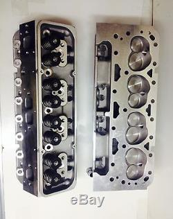 Small Block Chevy loaded V 8 Cylinder Heads SBC 350 327 200cc straight PLUGS