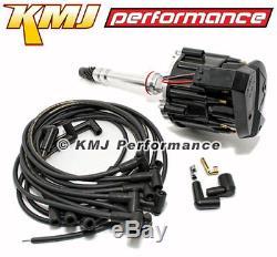 Small Block SBC Chevy 305 350 400 HEI Distributor & Moroso Wires 90 Black Kit