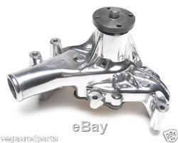 Small Block chevy aluminim Water Pump chevrolet long 350 400 327 high flow polis
