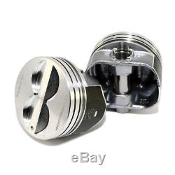 Speed Pro H345DCP30 Small Block Chevy Flat Top Coated Pistons. 030 Bore 5.7 SBC