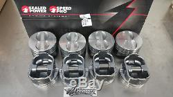 Speed Pro Small Block Chevy Flat Top Coated Pistons Std Bore H345DCP 350 Set