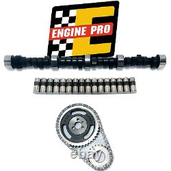 Stage 5 HP Camshaft Kit w Timing Set for Chevrolet SBC 305 350 5.7L 509/509 Lift