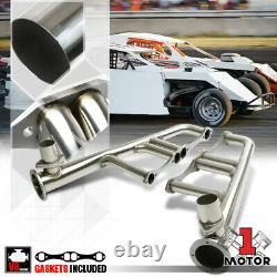 Stainless Steel Lake Style Exhaust Header Manifold for Small Block Chevy V8 Rods